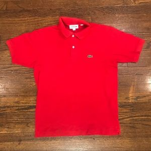 Lacoste Classic Fit Red Polo
